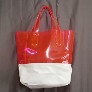 Victoria's Secret Clear Jelly Transparent Tote Bag